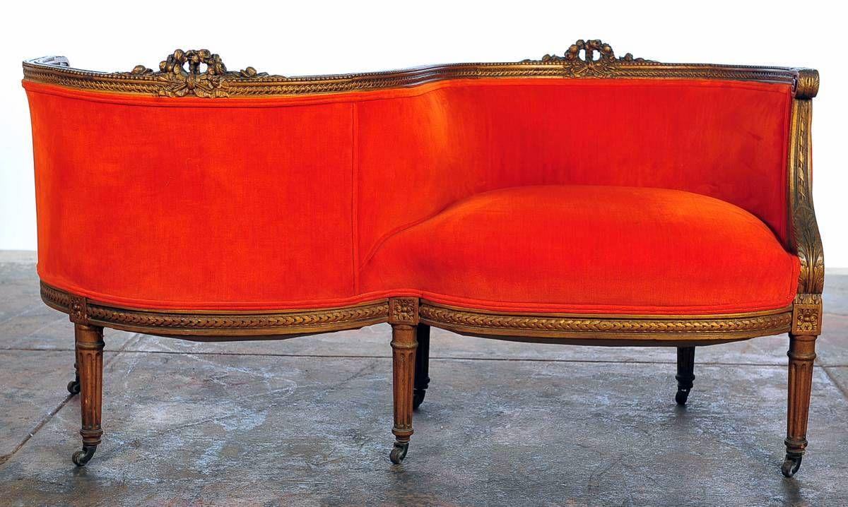 Victorian Tete A Tete Chair Century French Conversation Tete