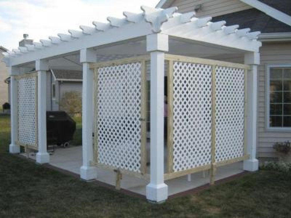 White lattice pictures and ideas outdoor pinterest for Outdoor privacy screen white