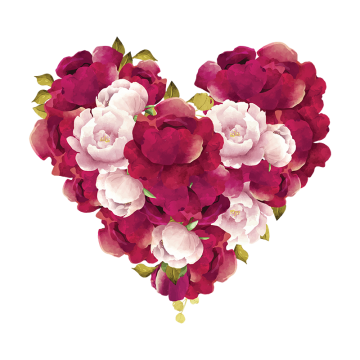 2020 的 Flower In Heart Shape, Flower, Heart PNG and Vector
