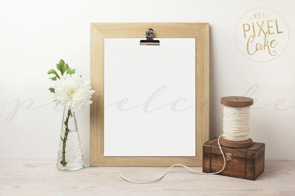 Clipboard Frame Mockup (FM0004) @creativework247 | Product Mockups ...