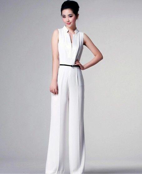 575c8d86e7 women elegant white formal jumpsuit