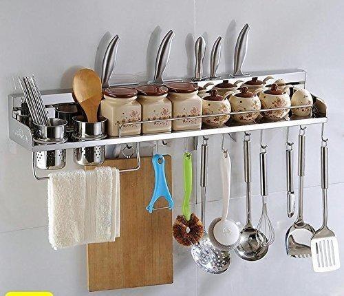 Multipurpose Stainless Steel Kitchen Utensils Organizer Holder 31 Wall Mounted Pan Pot Racke Rack Spoon Ladle Hangerknife Blocktowel Racksilverware