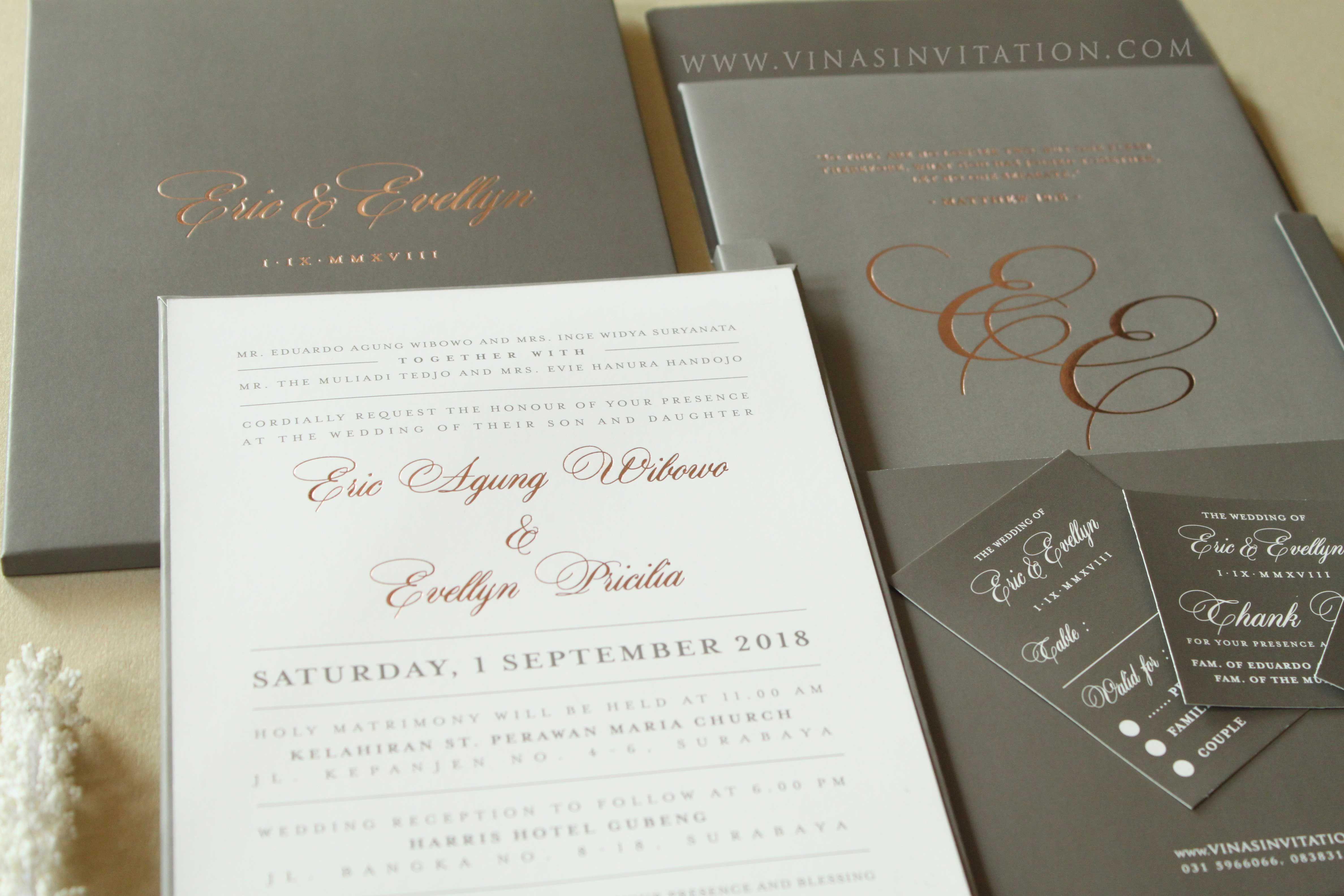 Vinas Invitation Simple Elegant Wedding Sydney