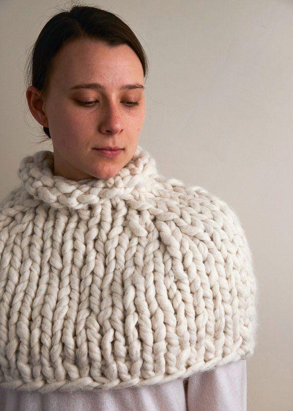 Jumbo Capelet | Purl Soho | Knit/Crochet | Pinterest | Tejido ...
