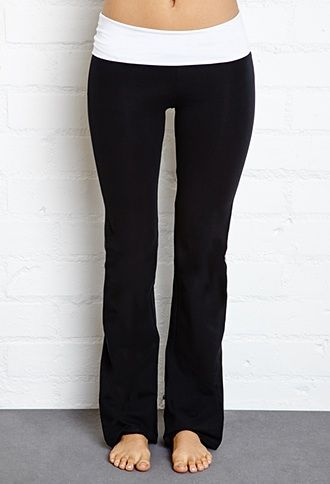 online here buy sale special sales Forever 21 Fold Over Yoga Pants $13 | Bummin' | Fold over ...