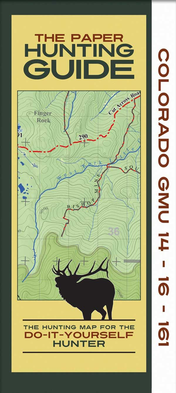 Topographic Hunting Map Daves elk info Elk hunting