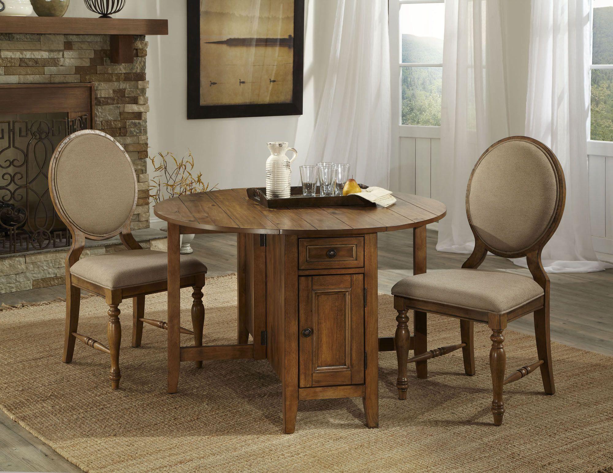 "Round Table Bedroom Furniture: Rhone 48"" Round Storage Dining Room Set"