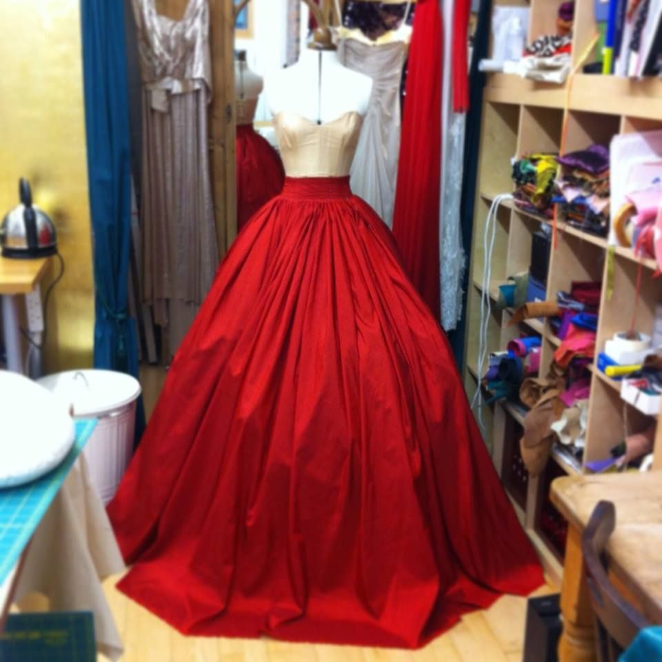 Pink And Red Taffeta Ball Gown By Mishi May Ball Gowns Beautiful Dresses Gowns