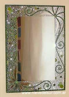 Espejos mesadas acc ba o tiffany espejos pinterest for Espejos decorativos cuadrados