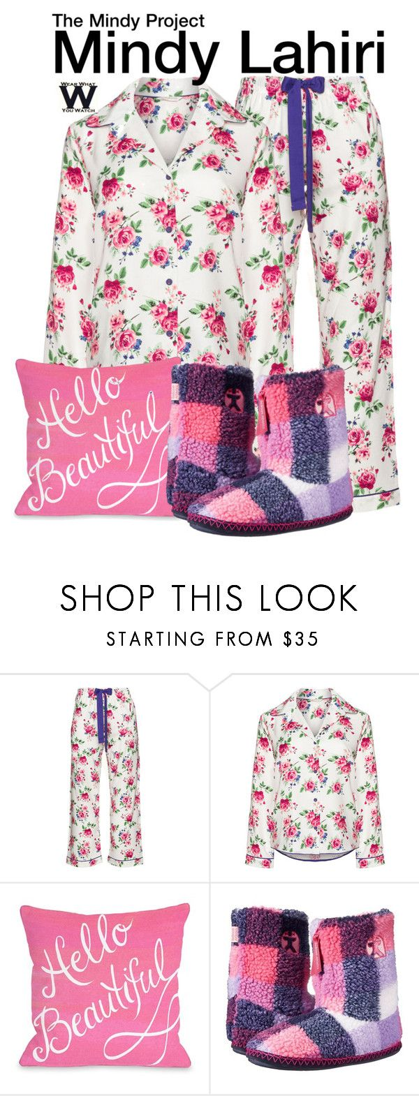 """""""The Mindy Project"""" by wearwhatyouwatch ❤ liked on Polyvore featuring Cyberjammies, Bedroom Athletics, television, wearwhatyouwatch and plus size clothing"""