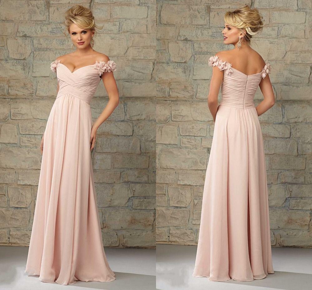 Blush chiffon bridesmaid dress bridesmaid dressesring bearer blush chiffon bridesmaid dress ombrellifo Choice Image
