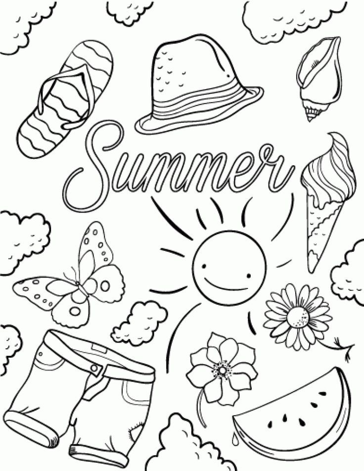 Download and print this Free Summer Coloring Pages 706102 ...