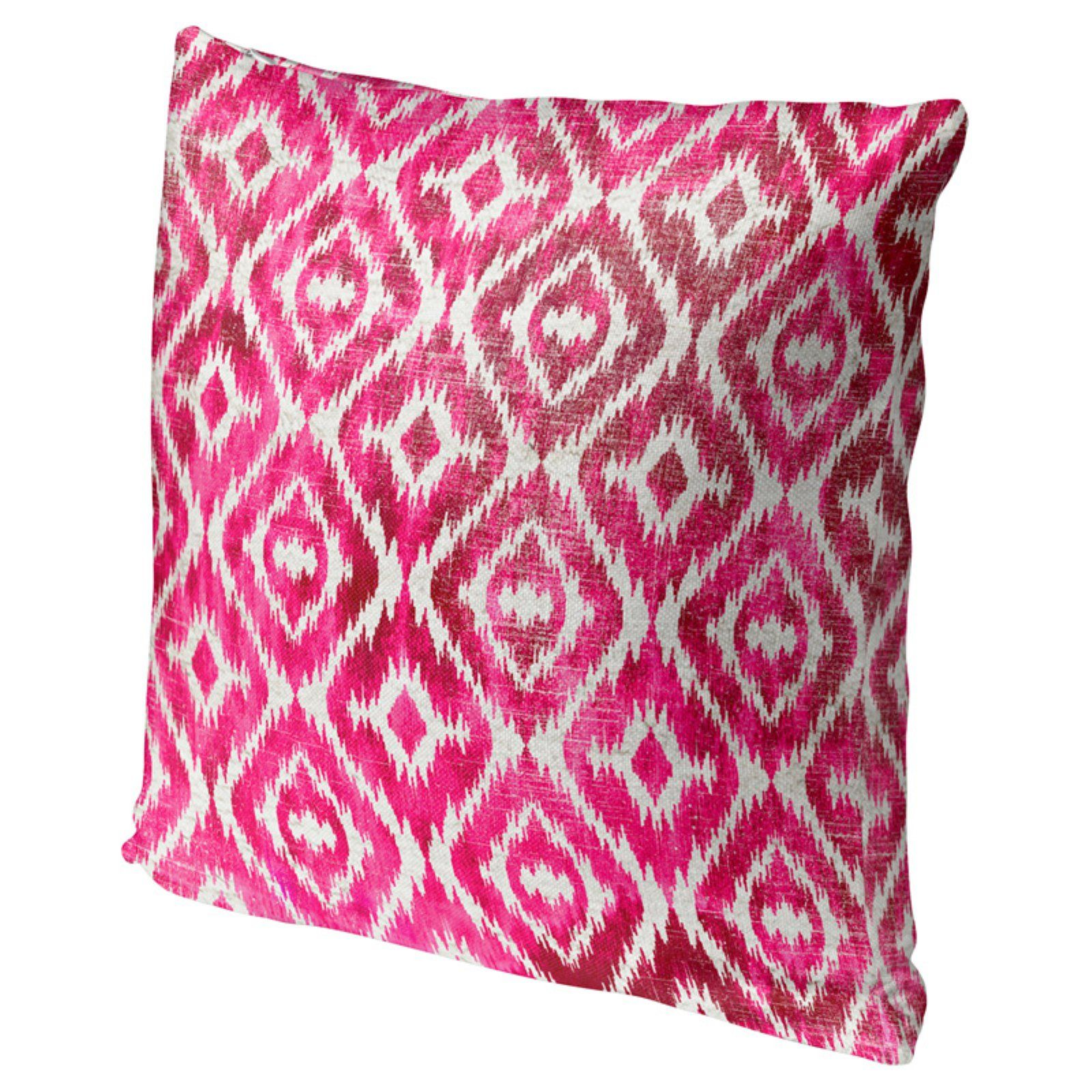 Kavka Designs Omari Gray Accent Pillow Pink
