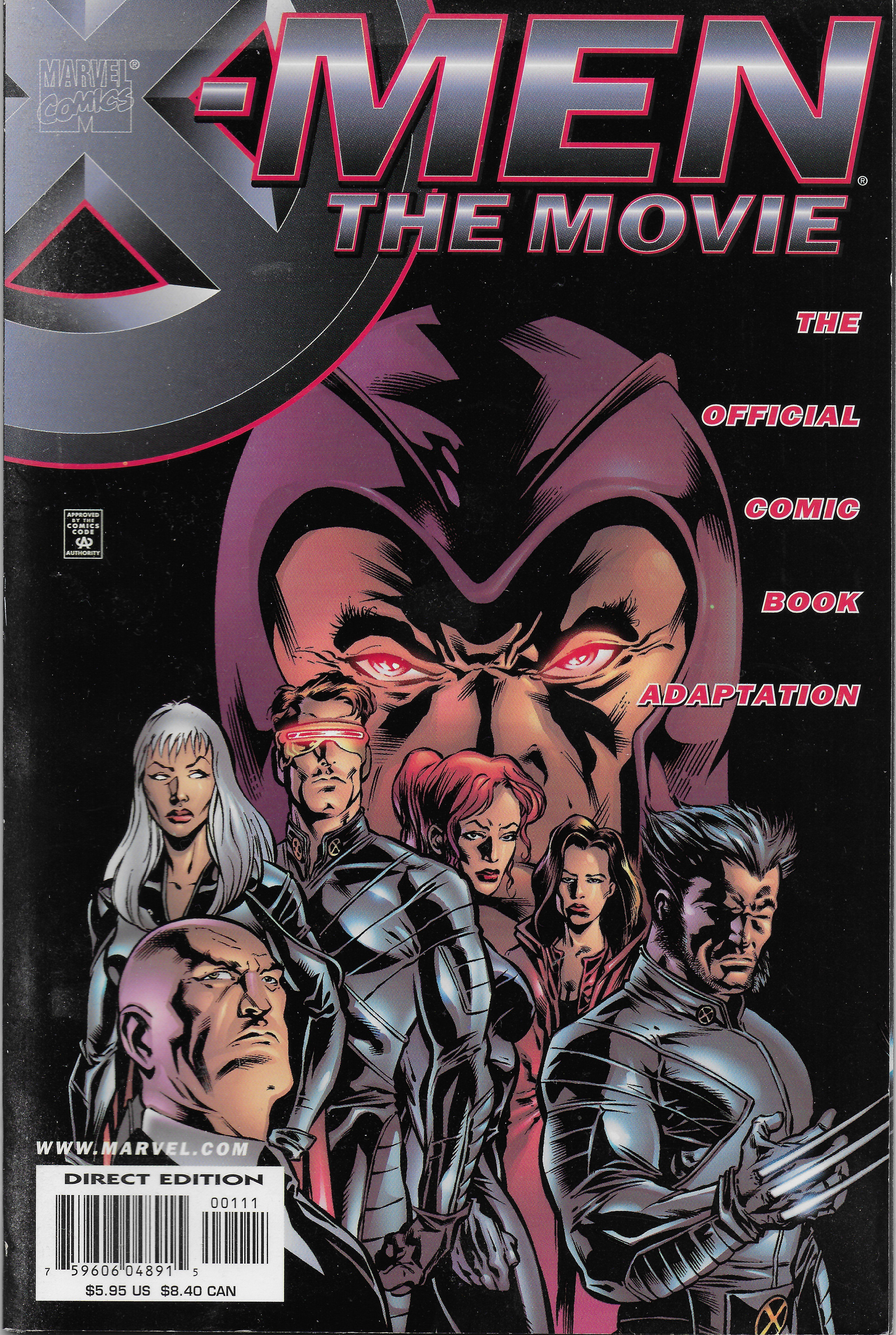 X Men The Movie Marvel Usa 2000 In 2020 With Images Science Fiction Books Marvel Comics