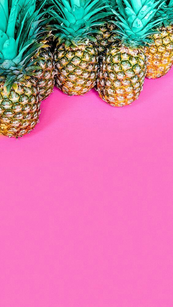 Cute pineapple and Pink background!!!!!!!Found on Tumblr ...