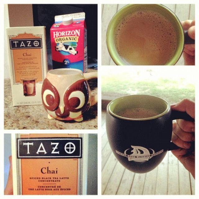 JUST LIKE STARBUCKS! Homemade Chai Tea Latte. 4oz Of Tazo