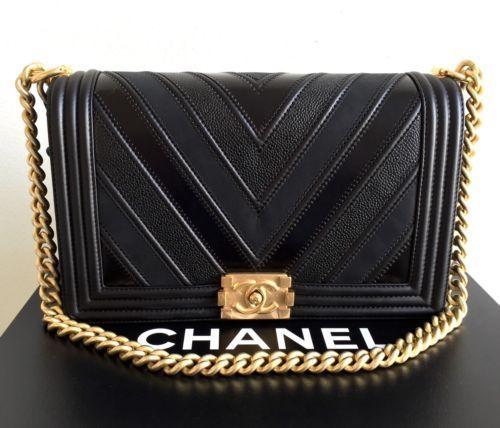 b58d1646563c Chanel Le Boy Limited New 2016 Black Medium Flap Calfskin Bag Gold Hardware  | eBay: