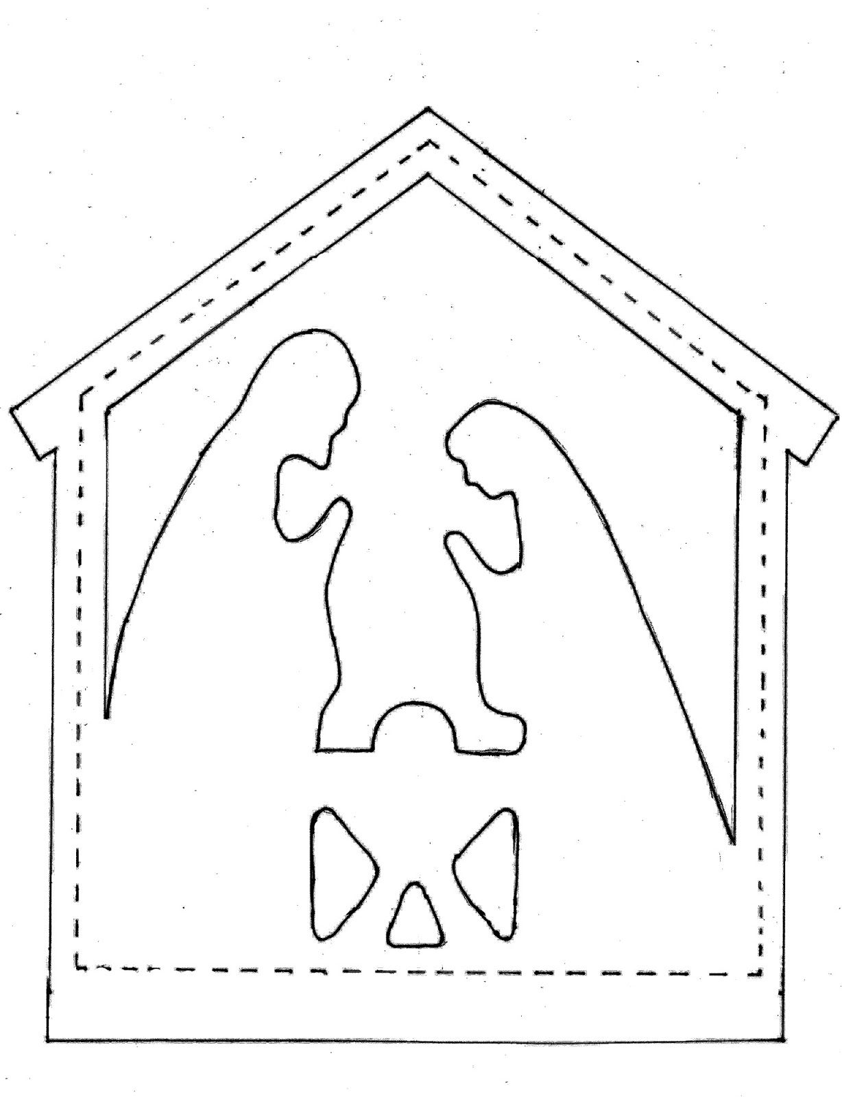 Pieces By Polly Star And Nativity Appliques