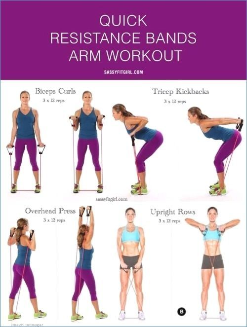 Arm workout with bands