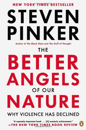 The Better Angels of Our Nature: Why Violence Has Declined by Steven Pinker, http://www.amazon.com/dp/0143122010/ref=cm_sw_r_pi_dp_U1wVqb1F3Z2EF