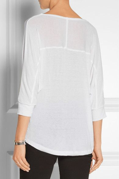Net Top A SplendidDraped com Jersey Porter Fem Tops Stretch 0wNm8n