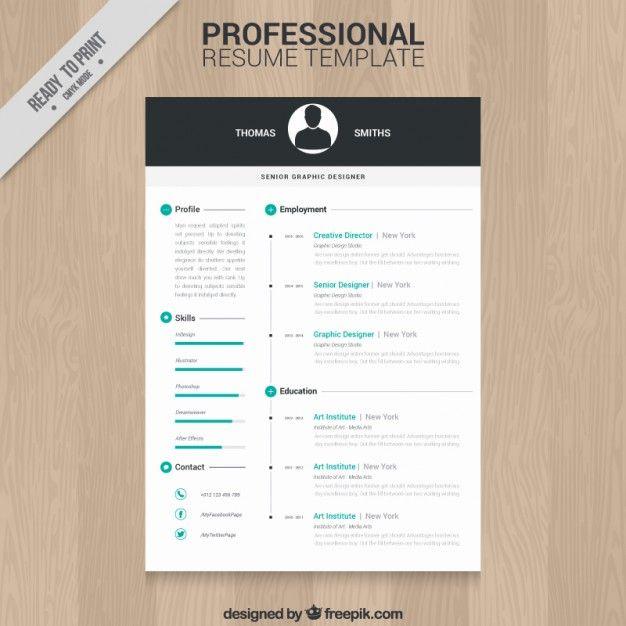 Modelo De Currculo Profissional  Professional Resume Template