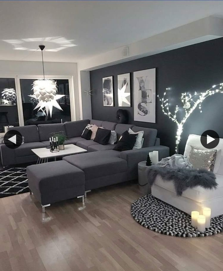 6 Must Try Living Room Lighting Ideas To Create An Elegant Look Dark Grey Living Room Small Living Room Decor Black Living Room #small #black #living #room