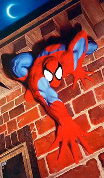 Spider Man Wall Crawling Spider Man Web Of Legacy