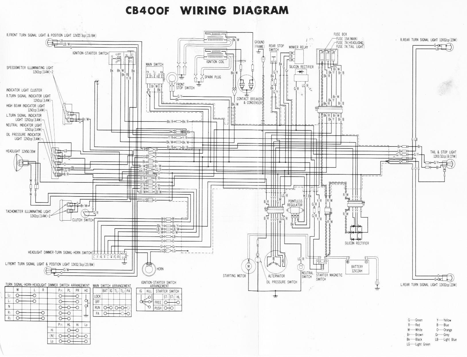 Afbeeldingsresultaat Voor Wiring Diagram Honda Cb400f Four