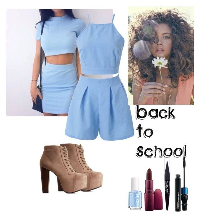 """Back To School: Day 3"" by katrice-s ❤ liked on Polyvore featuring Charlotte Russe, Giambattista Valli, MAC Cosmetics, Essie and Maybelline"