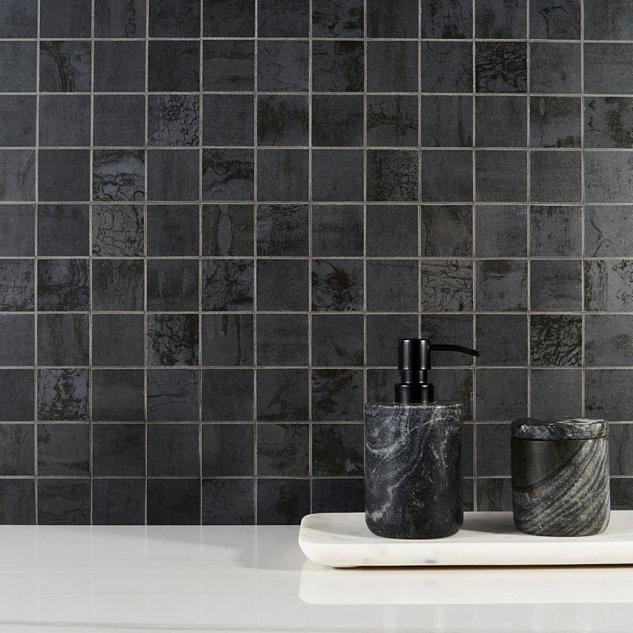 Angela Harris Inspira Dark 2x2 Matte Porcelain Mosaic Tile In 2020 Porcelain Mosaic Porcelain Mosaic Tile Angela Harris
