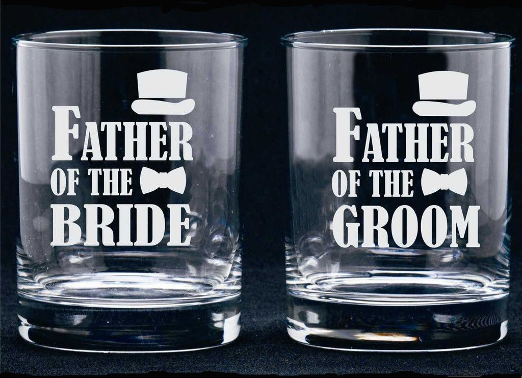Mother Of The Groom Gift: Father Of Bride Or Groom Glass