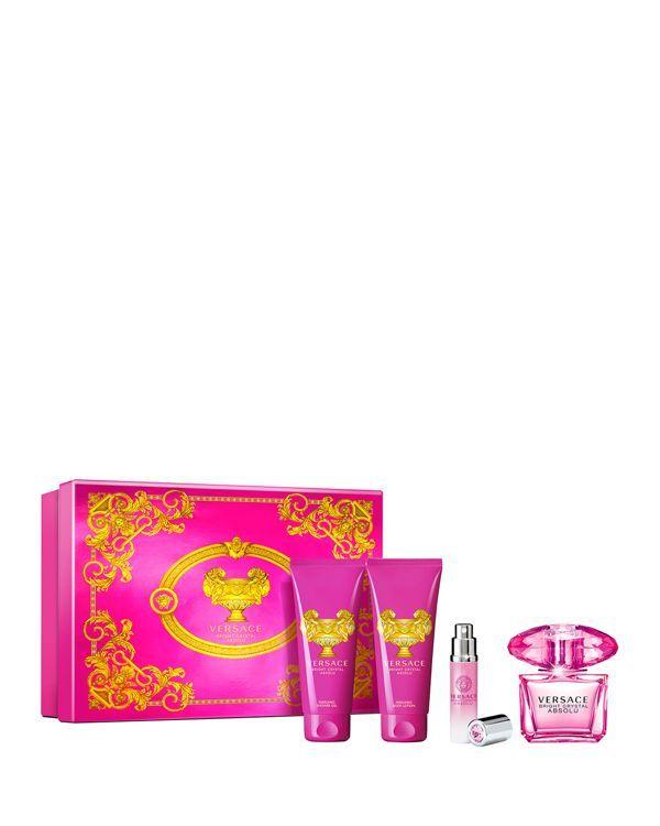 Versace Bright Crystal Absolu Gift Set Beauty Cosmetics Bloomingdale S Versace Bright Crystal Pink Perfume Gift Set