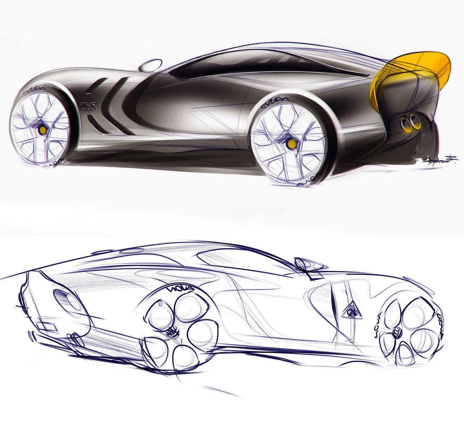 TVR And Alfa Romeo Concept Design Sketches By Andrew F