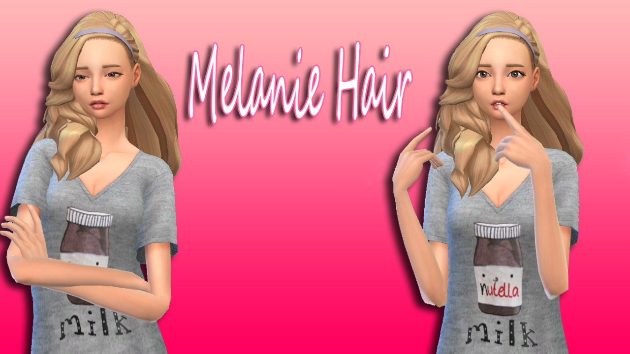 Melanie HairHi Guys here is a little something for all of you hope you enjoy!TOU:don't reuploadDon't claim as your owndon't upload to payed sitesif you recolor please don't include the mesh