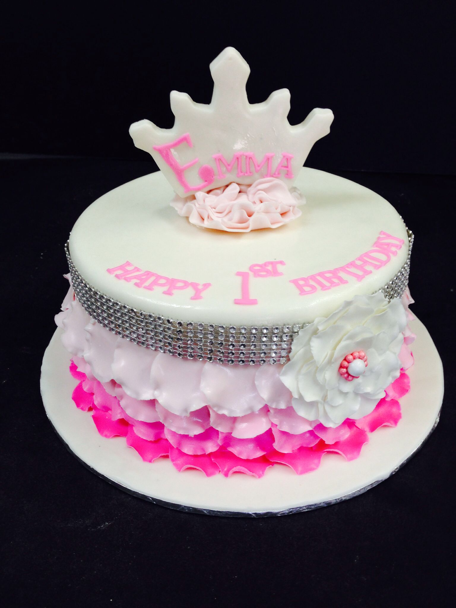 Baby Girl First Birthday Cake First Birthday Cake With