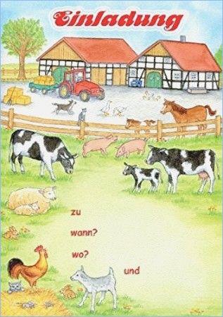Bildergebnis Für Kindergeburtstag Einladungen Zum Ausdrucken Bauernhof