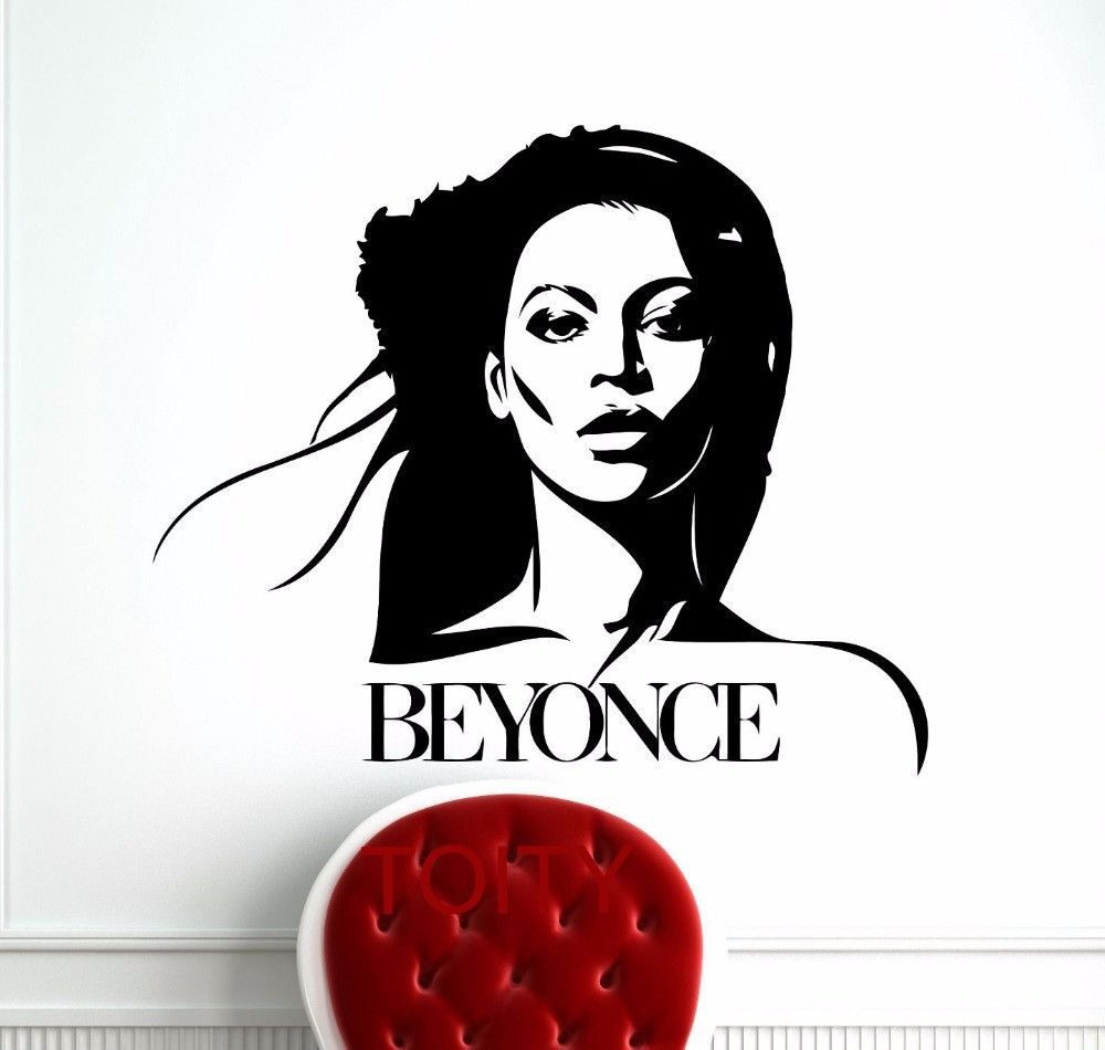 Beyonce wall sticker products pinterest products beyonce wall sticker celebrity pop star music vinyl decal retro art decor bar studio club restaurant home interior room mural amipublicfo Image collections