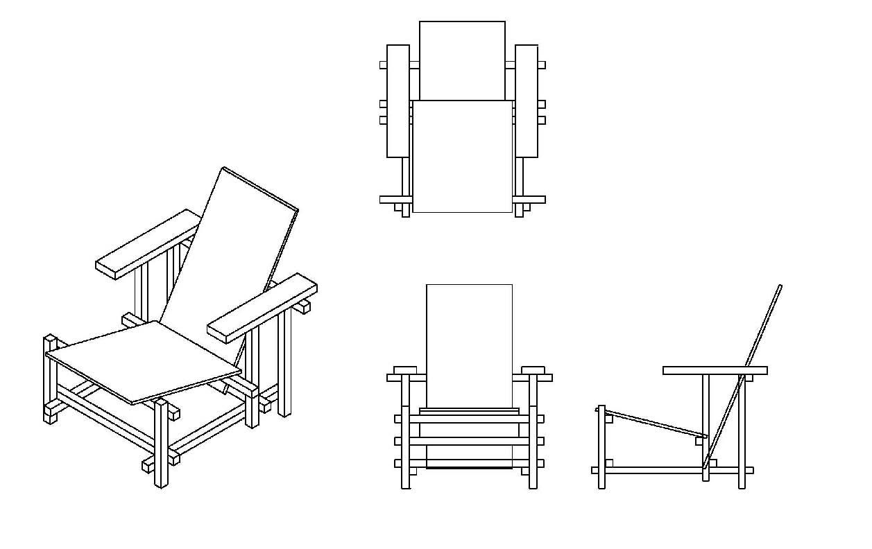 Isometric and orthographic drawings orthographic drawing for Chair design drawing