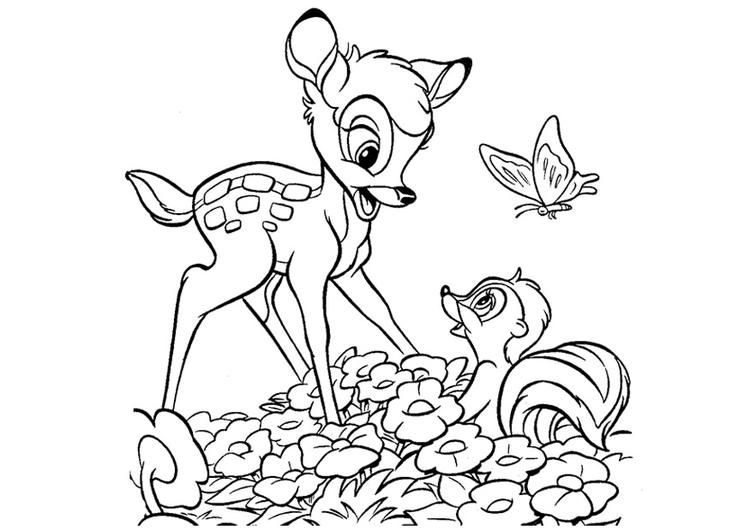 bambi coloring pages bing images - Bambi Coloring Pages