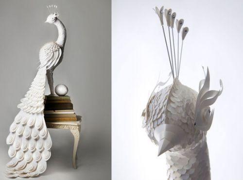 de magnifiques cr ations toutes en papier oiseau en. Black Bedroom Furniture Sets. Home Design Ideas