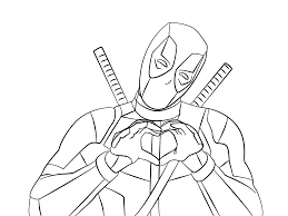 Pin On Deadpool Coloring Pages