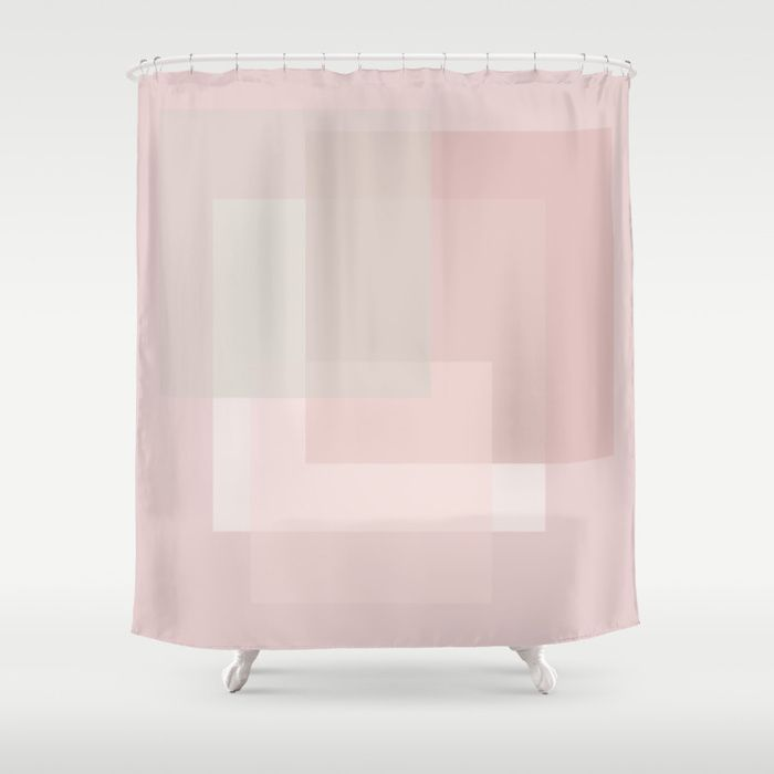 Buy Pale Dusty Rose And Grey Shades Shower Curtain By Blerta