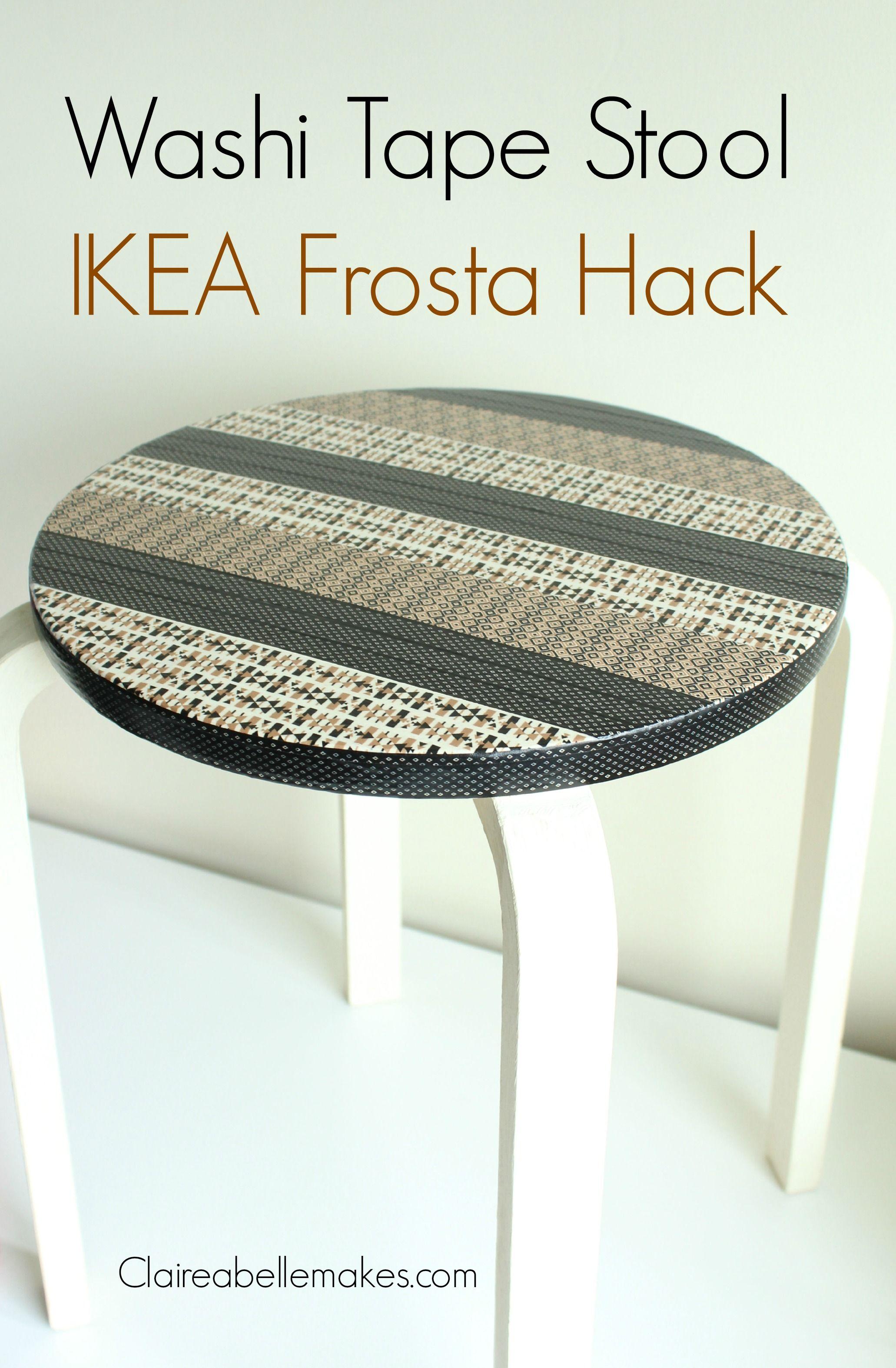 ikea hack diy washi tape stool ikea hack washi tape and washi. Black Bedroom Furniture Sets. Home Design Ideas