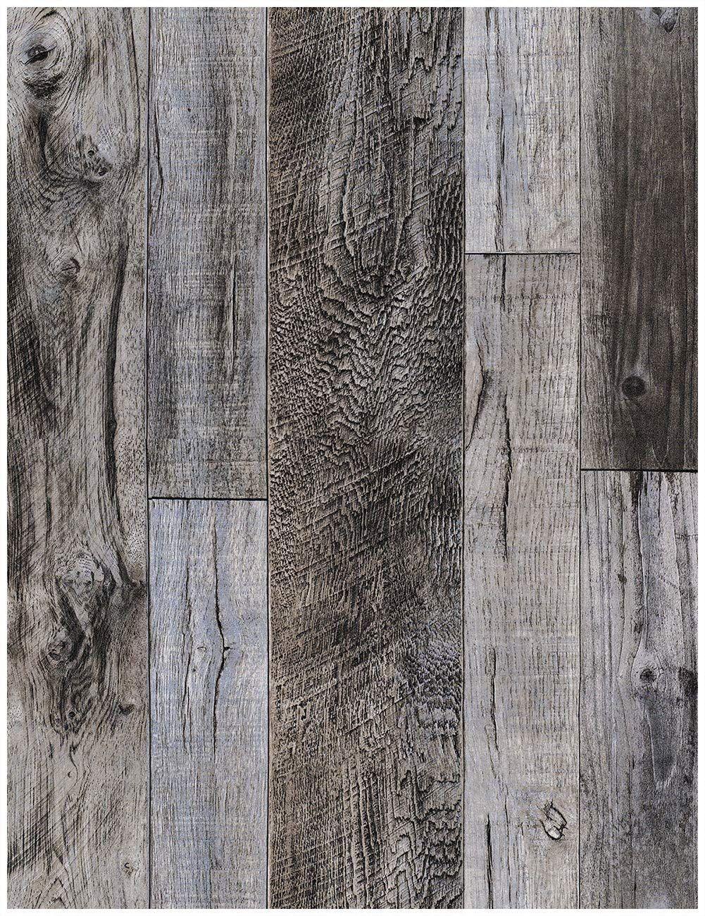 Haokhome 92048 1 Peel And Stick Wood Plank Wallpaper Shiplap 17 7 Quot X 9 8ft Grey Vinyl Self Adhesive Co Fliesen Holzoptik Kontaktpapier Holz Hintergrundbild