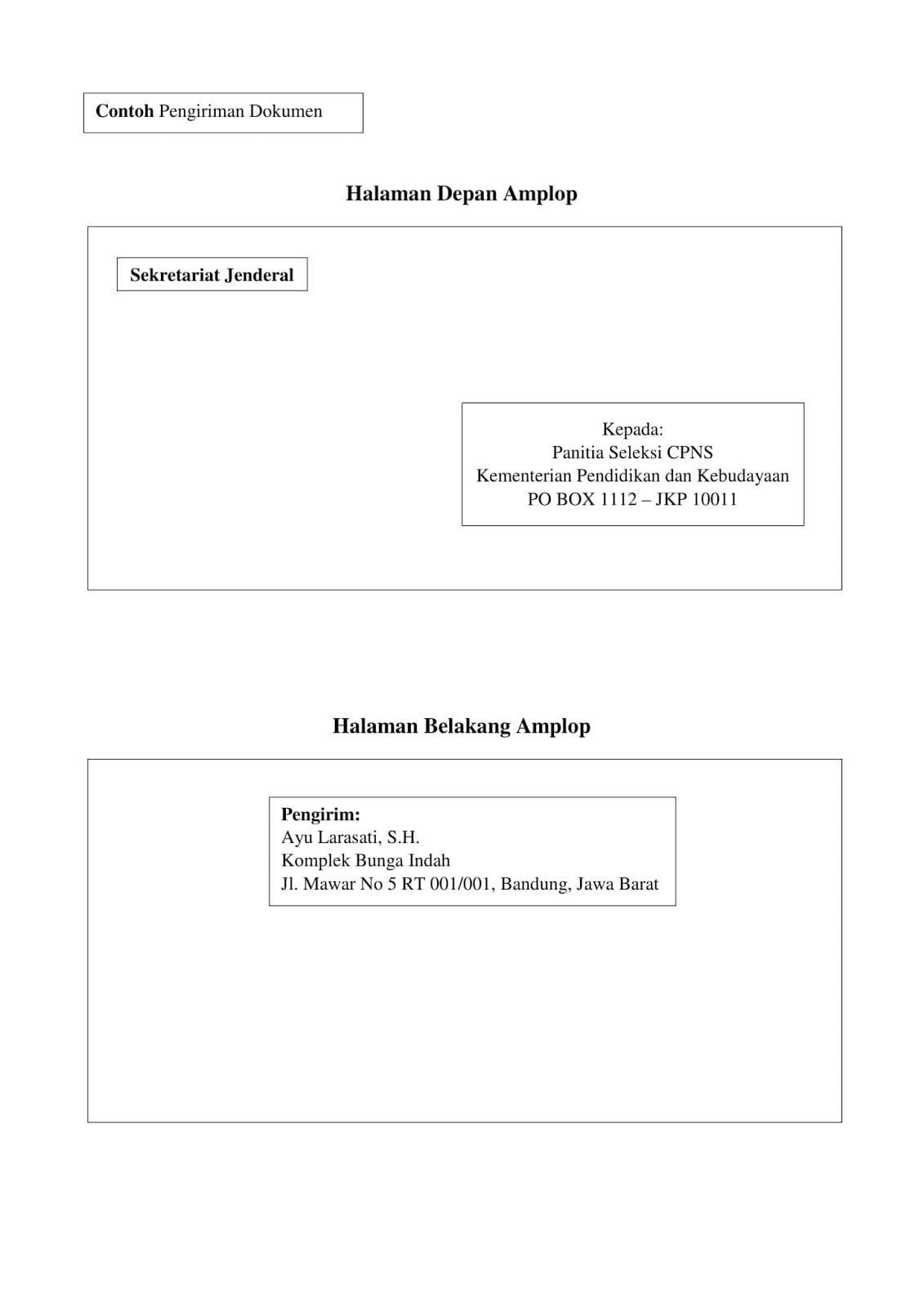 Contoh Kop Surat Kemdikbud Surat Kop Surat Desain