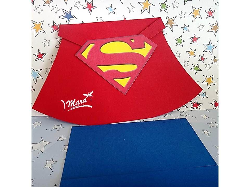 Invitaciones De Cumpleaños Hechas A Mano Para Regalar 9 en HD Gratis cumples Cards, Superman