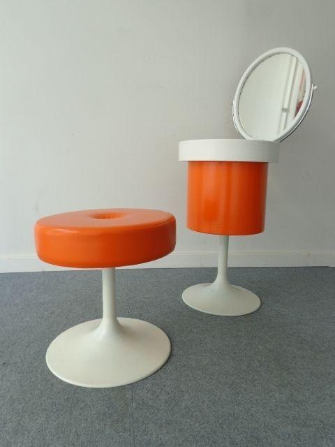 70 S Dressing Table Make Up Stool 70er Jahre Schminktisch Hocker