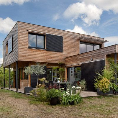 Maisons Durables  une maison bois de constructeur, mais - plan de maison de 100m2 plein pied