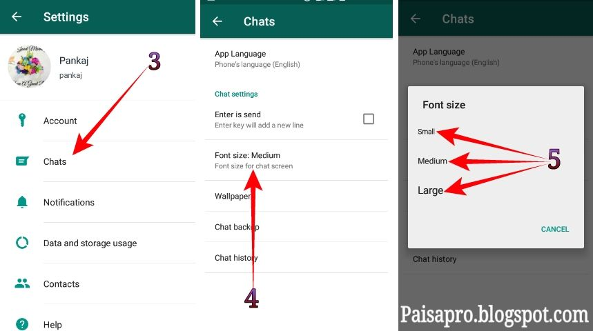 How To Change Whatsapp Font Text Size Whatsapp Chat Is Already Set Normal Font Size Which Is A Better Size For All Font Text But Whatsapp Chat Chat App Chat